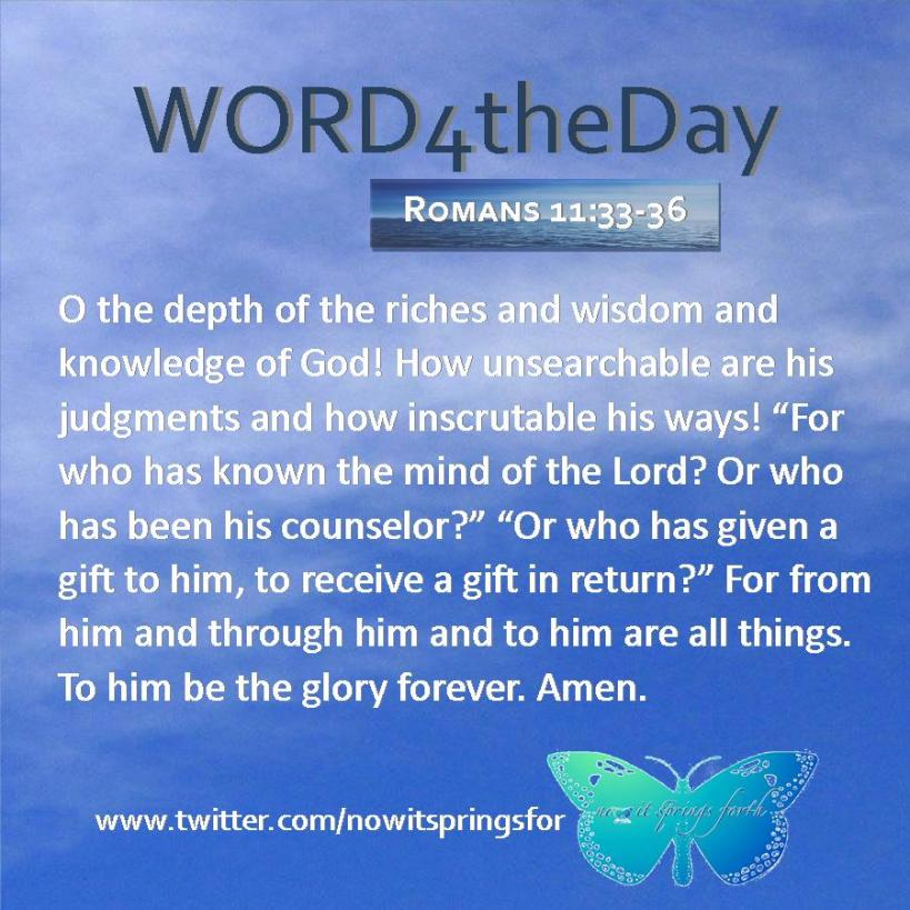 Romans 11 33-36