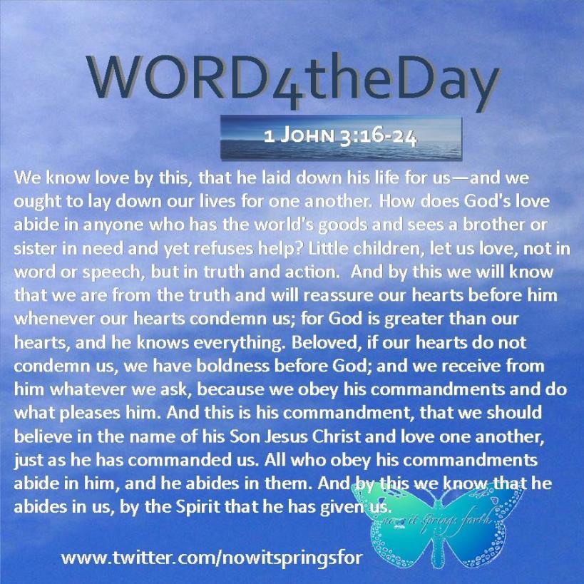 1 John 3 16-24