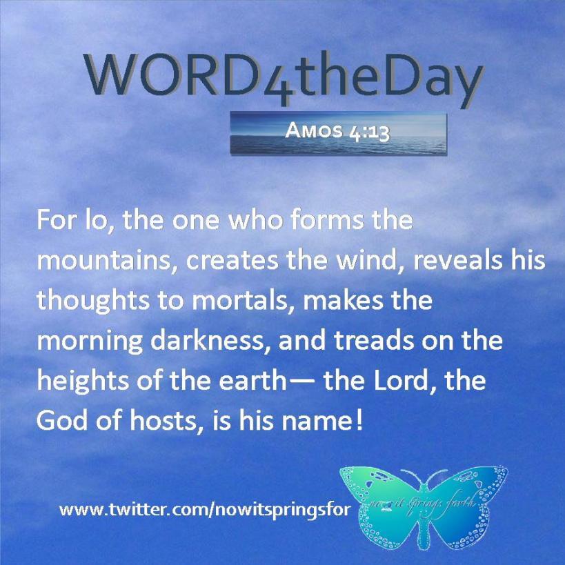Amos 4 13