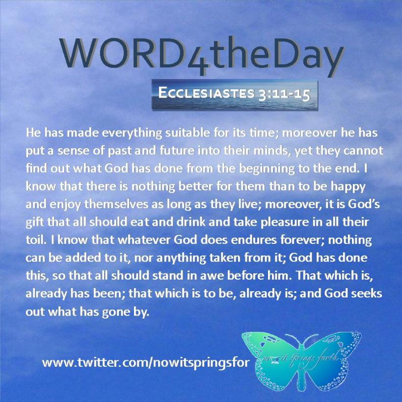 Ecclesiastes 3 11-15