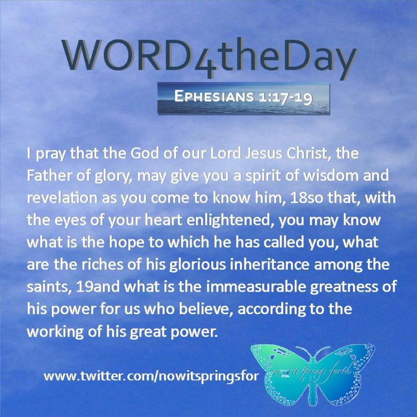 Ephesians 1 17-19