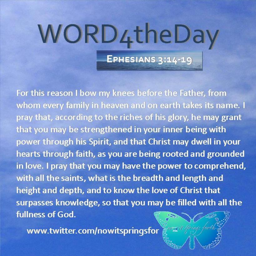 Ephesians 3 14-19