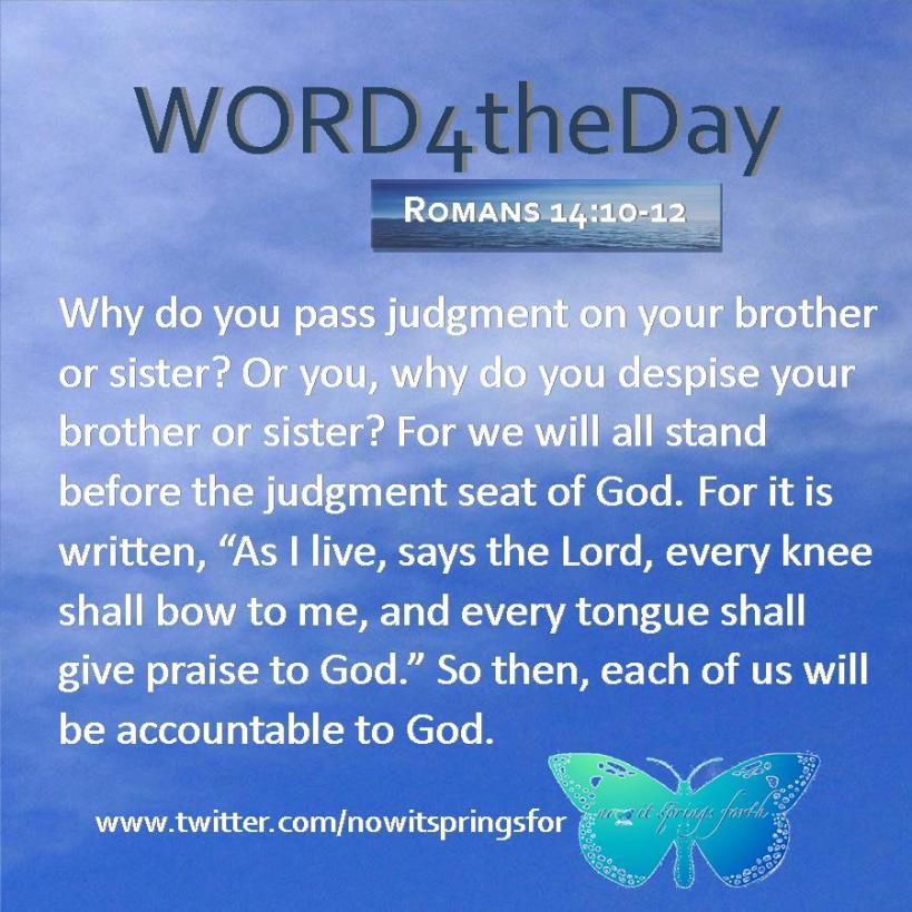 Romans 14 10-12
