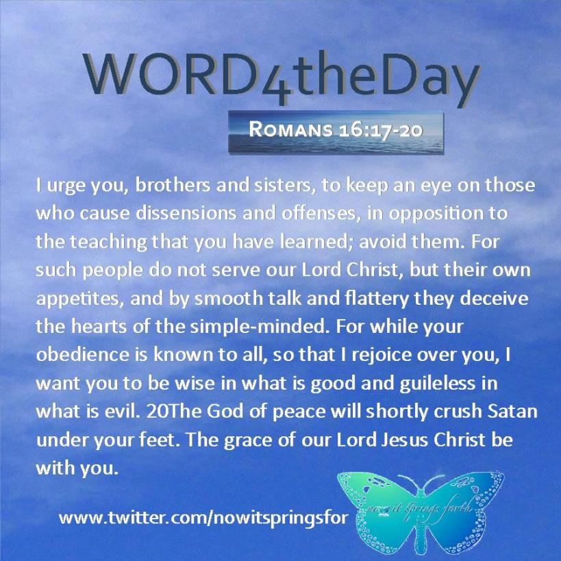 Romans 16 17-20