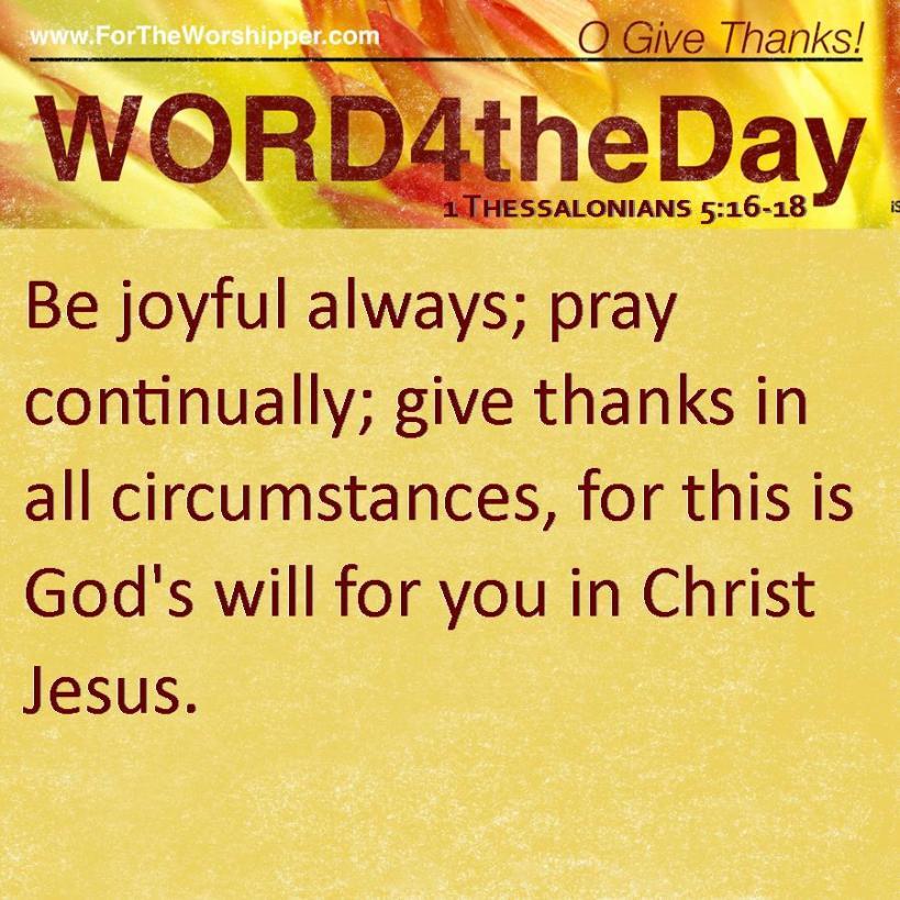1 Thessalonians 5 16-19