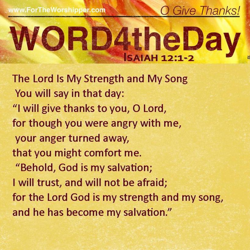 Isaiah 12 1-2