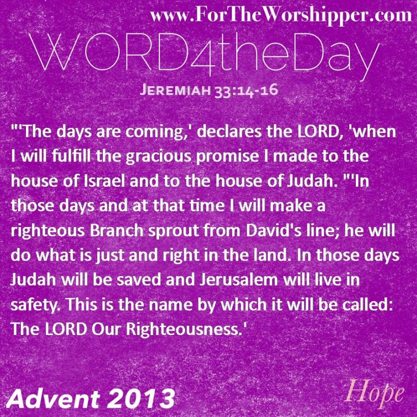 Jeremiah 33 14-16