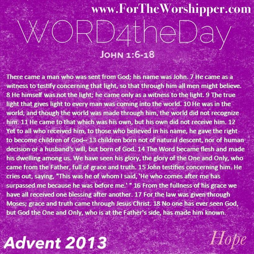 John 1 6--18