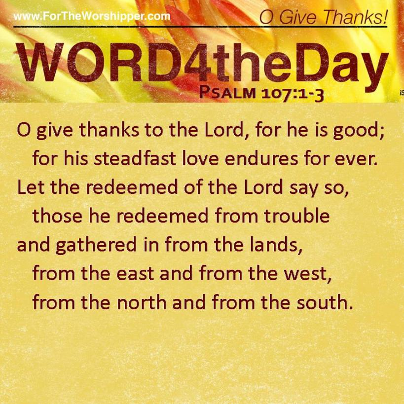 Psalm 107 1-3