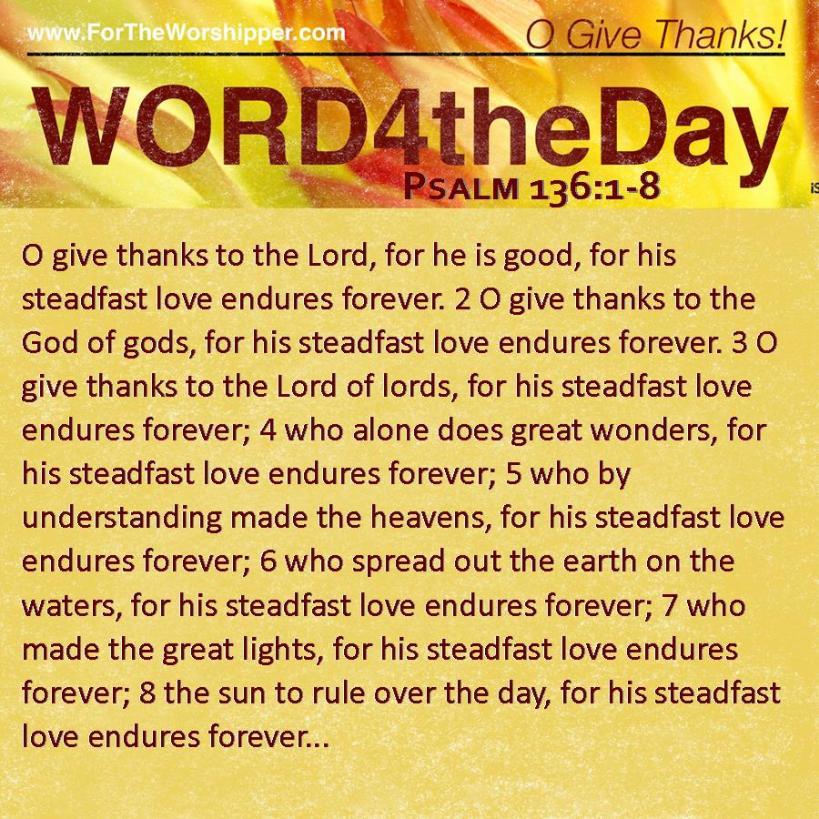 Psalm 136 1-8