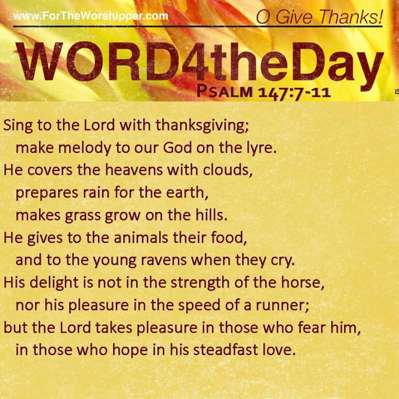 Psalm 147 7-11