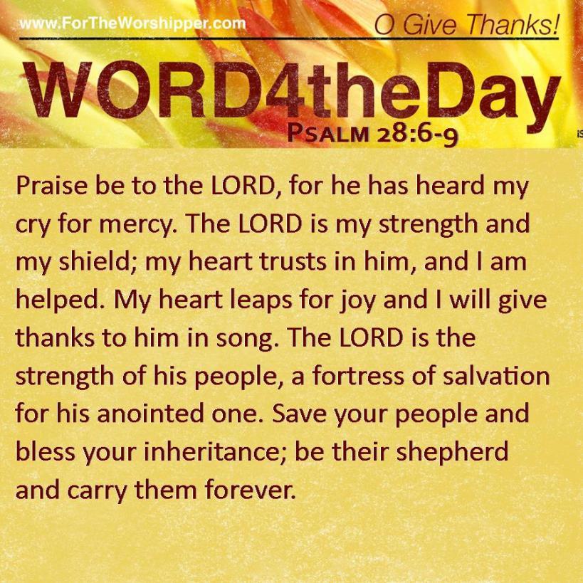 Psalm 28 6-9