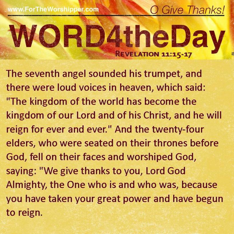Revelation 11 15-17
