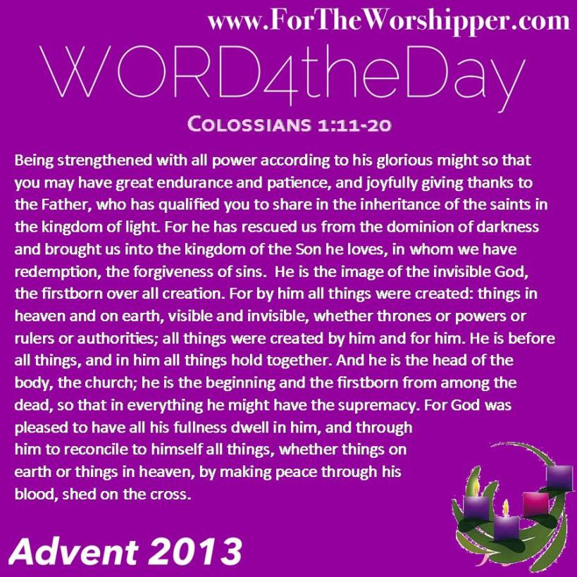 Colossians 1 11-20