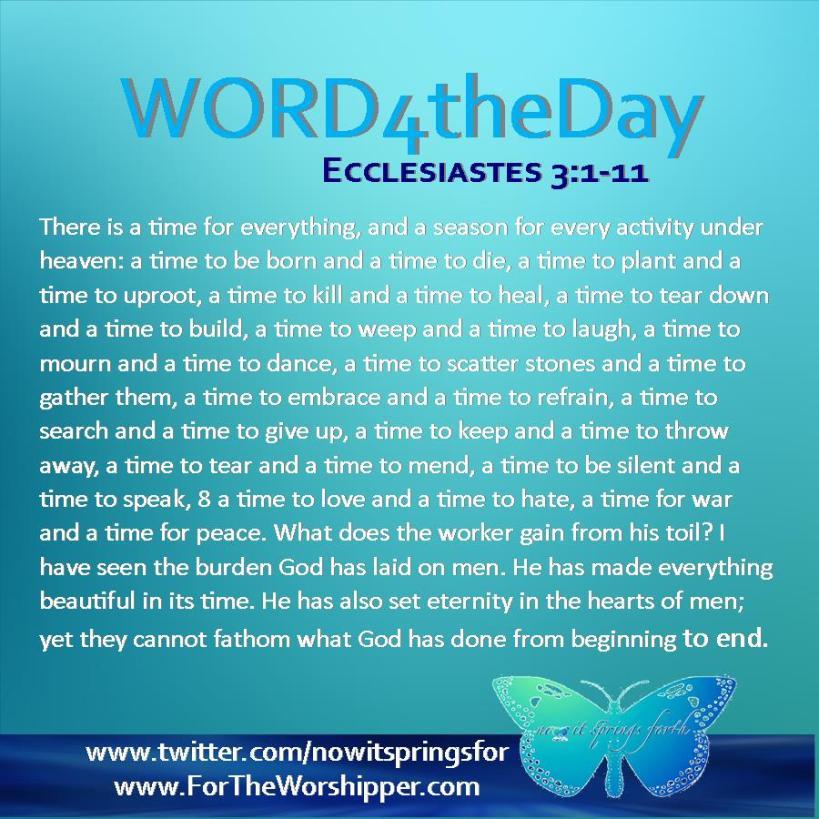 Ecclesiastes 3 1-11