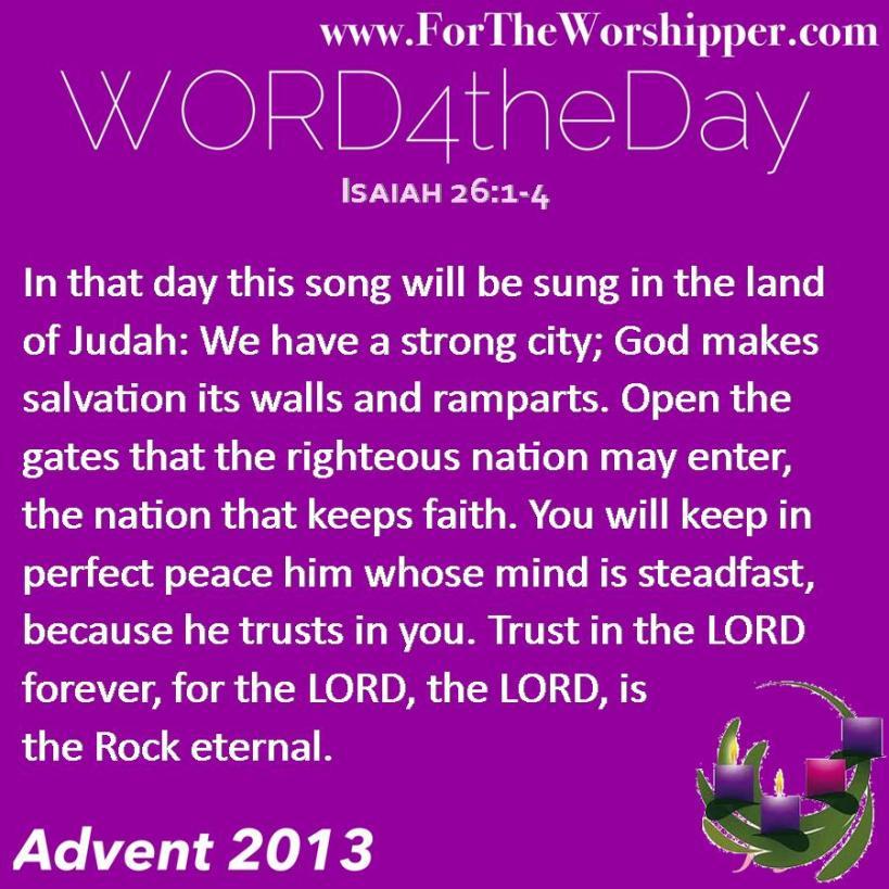 Isaiah 26 1-4