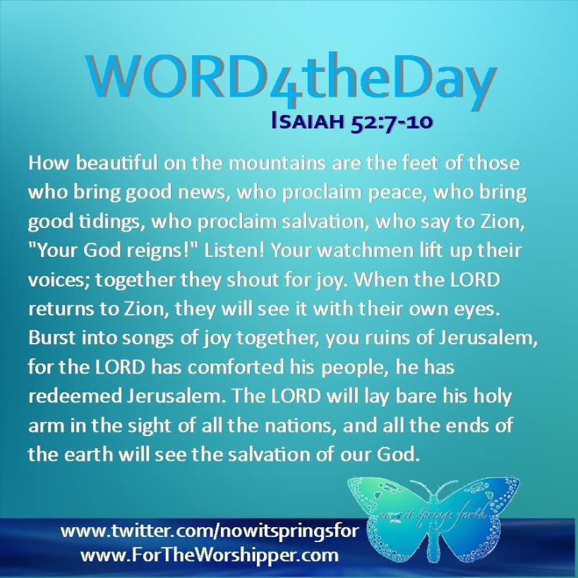 Isaiah 52 7-10
