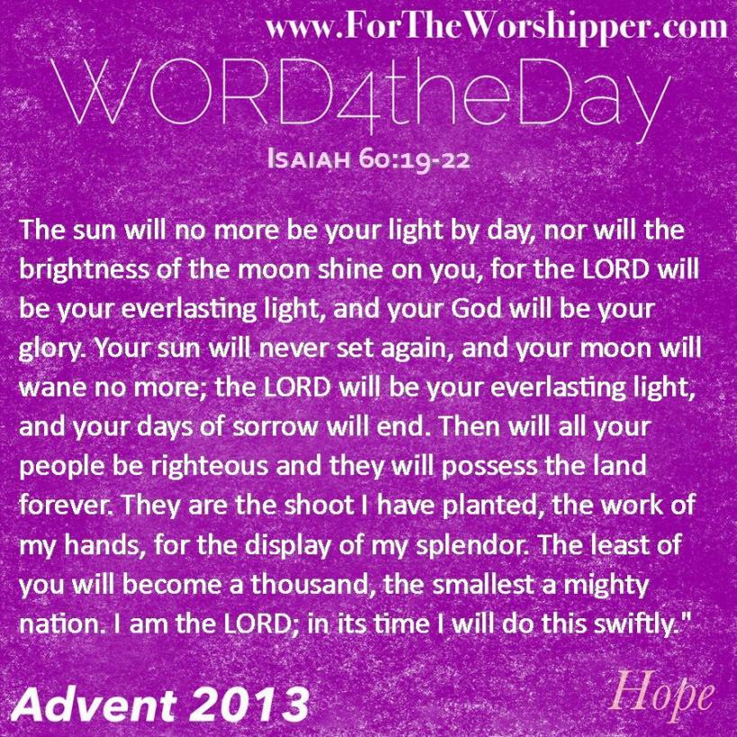 Isaiah 60 19-22