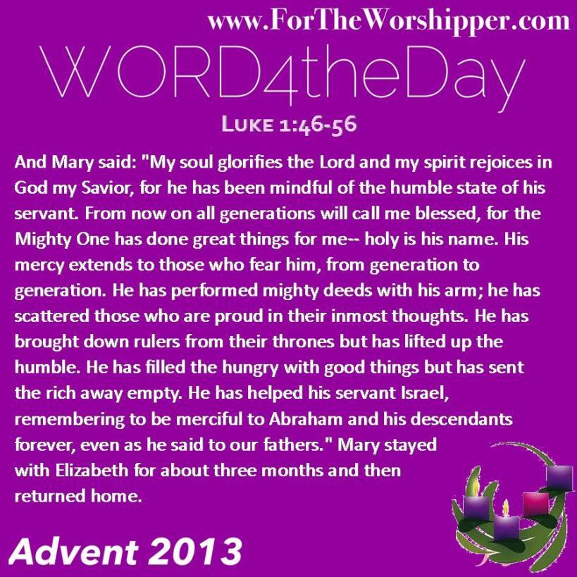 Luke 1 46-56