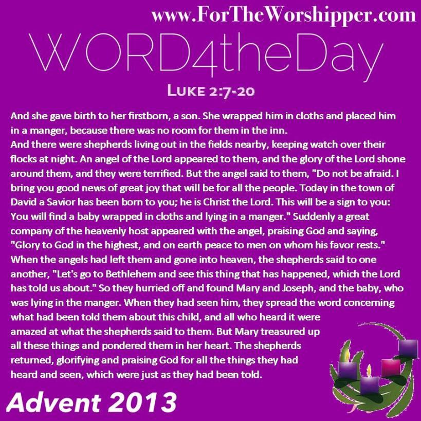Luke 2 7-20