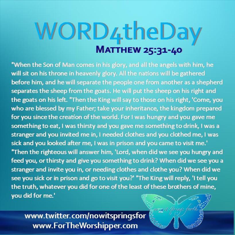 Matthew 25 31-40