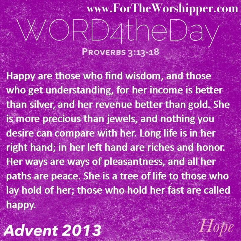 Proverbs 3 13-18