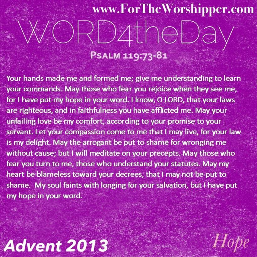 Psalm 119 73-81