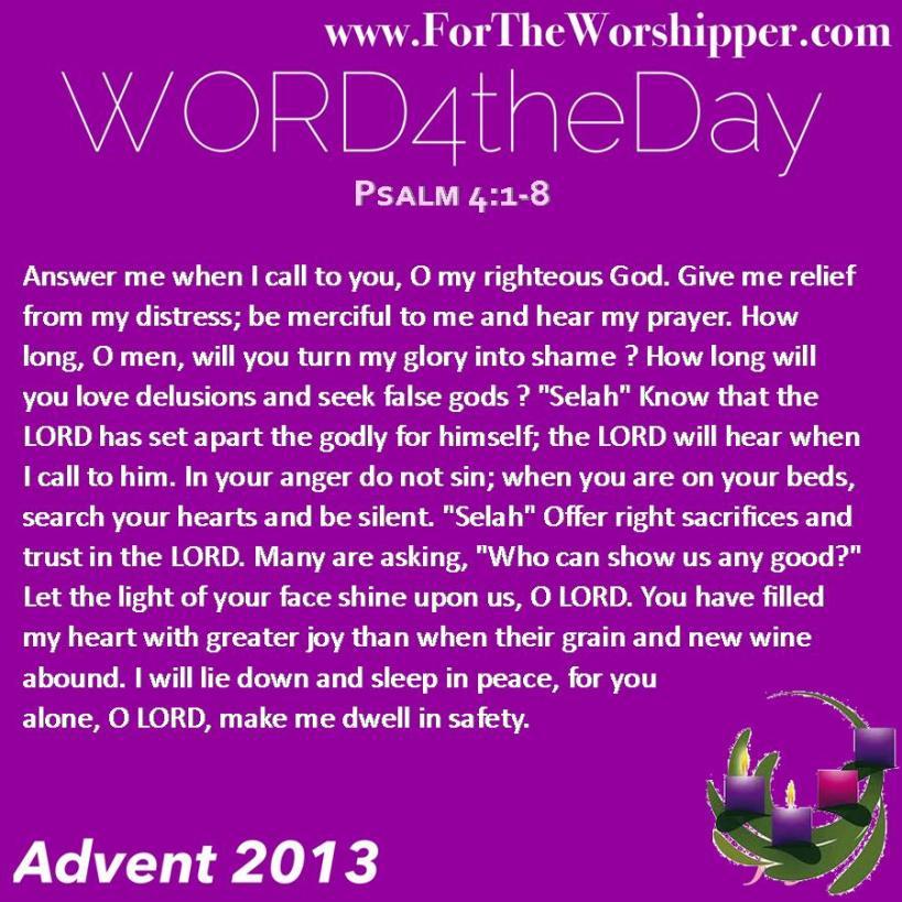 Psalm 4 1-8