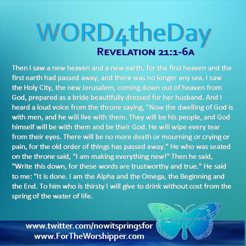 Revelation 21 1-6a