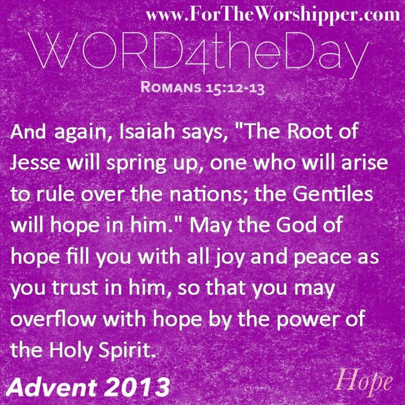 Romans 15 12-13