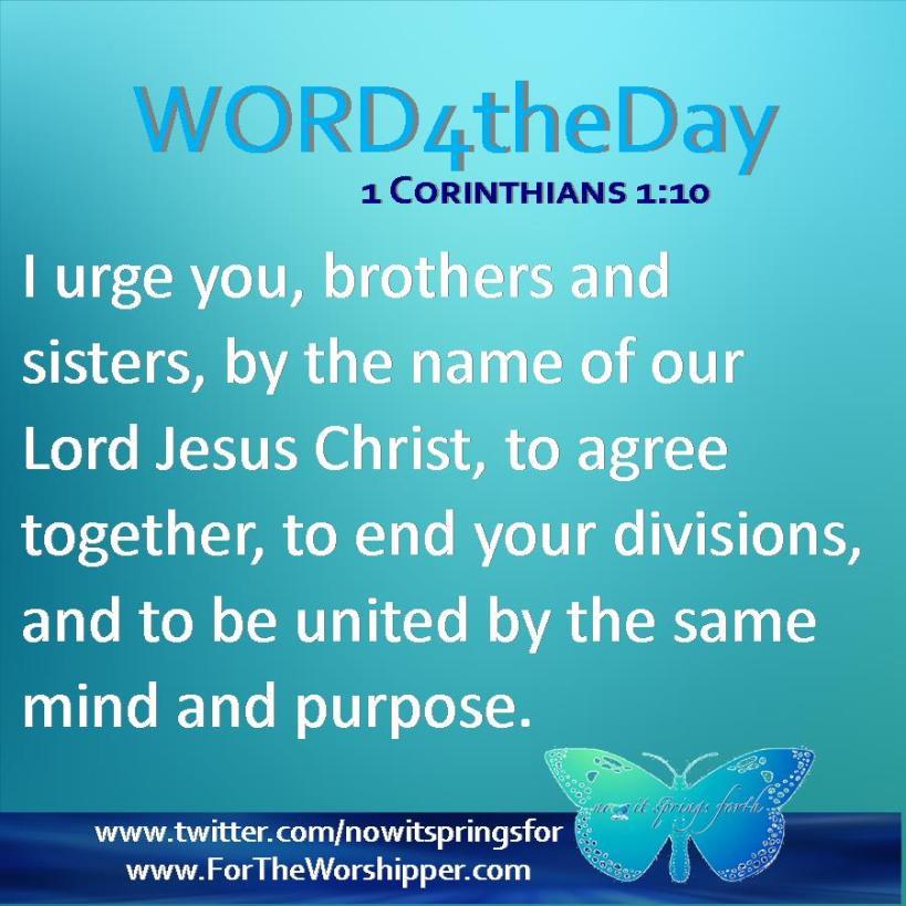 1 Corinthians 1 1-10