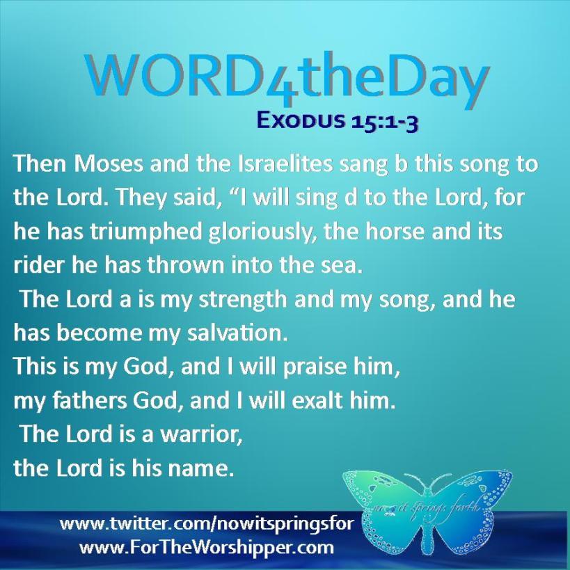 Exodus 15 1-3