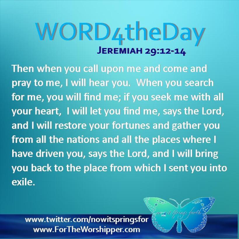 Jeremiah 29 12-14