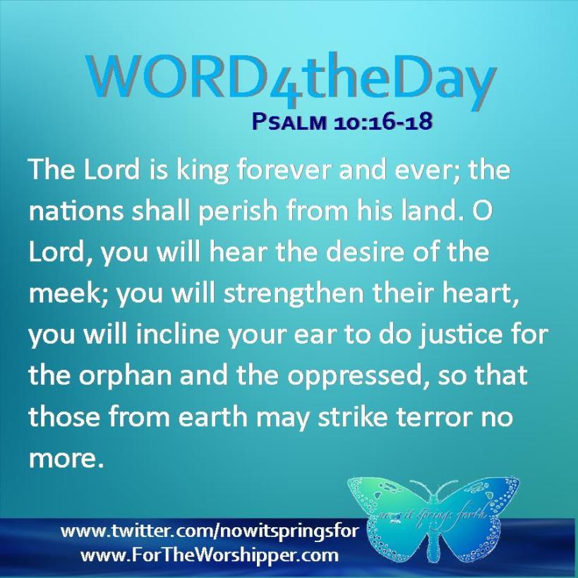 Psalm 10 16-18