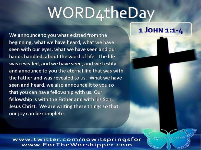 1 John 1 1-4