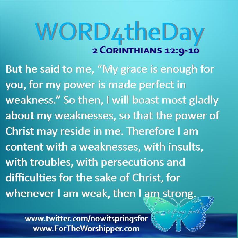 2 Corinthians 12 9-10