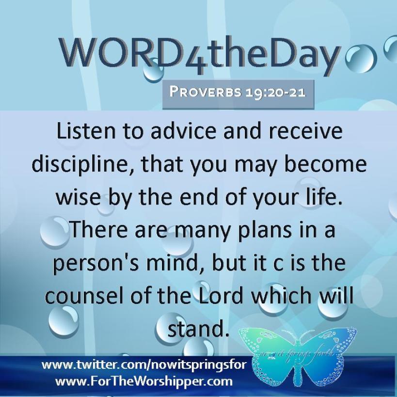 Proverbs 19 20-21