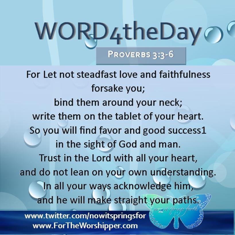 Proverbs 3 3-6