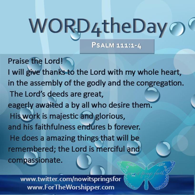 Psalm 111 1-4