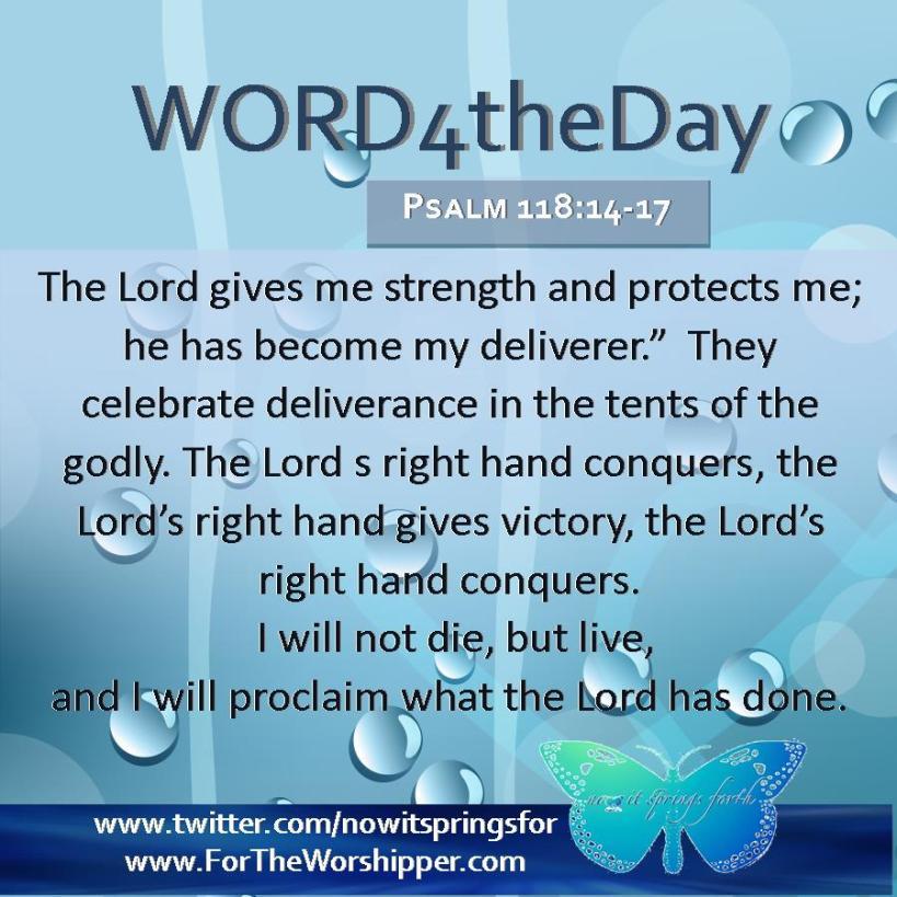 Psalm 118 14-17