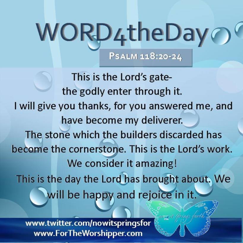 Psalm 118 20-24