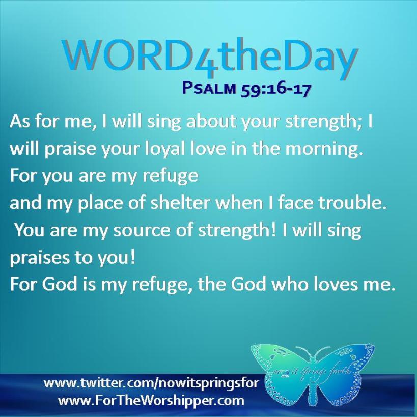 Psalm 59 16-17