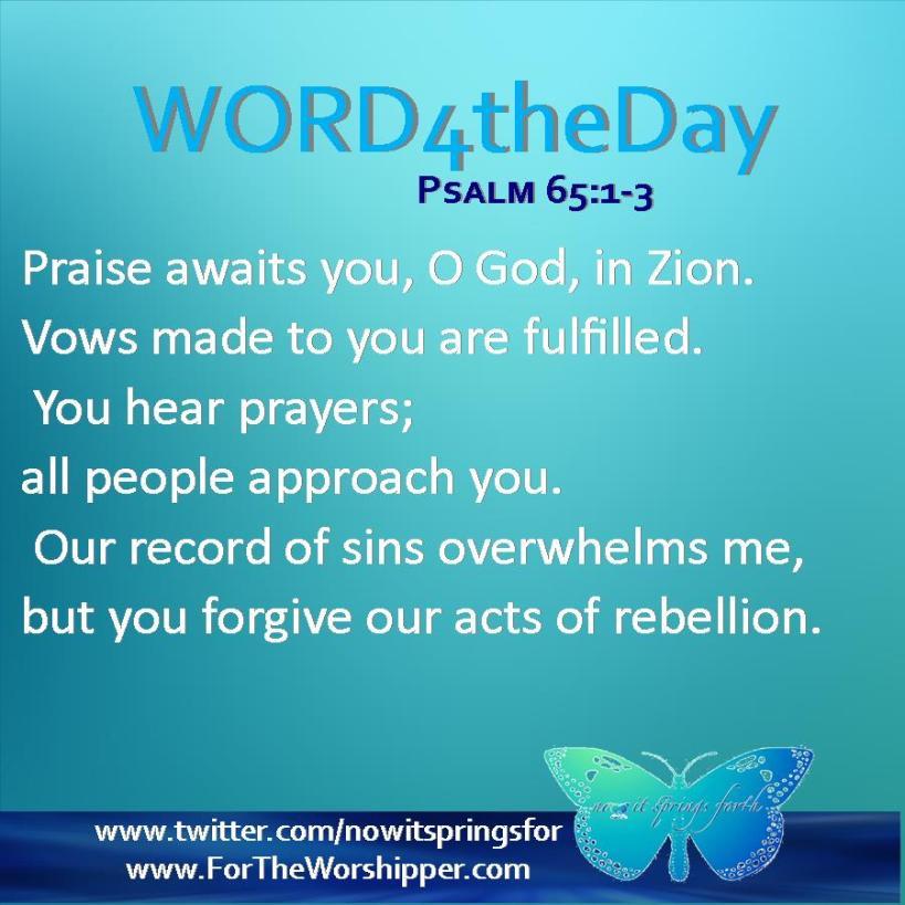Psalm 65 1-3