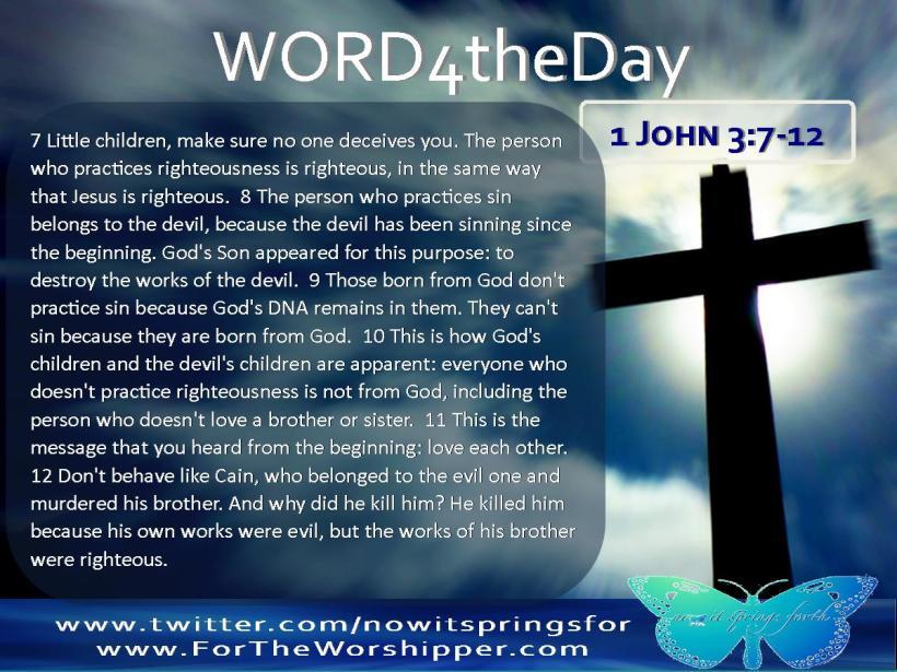 1 John 3 7-12