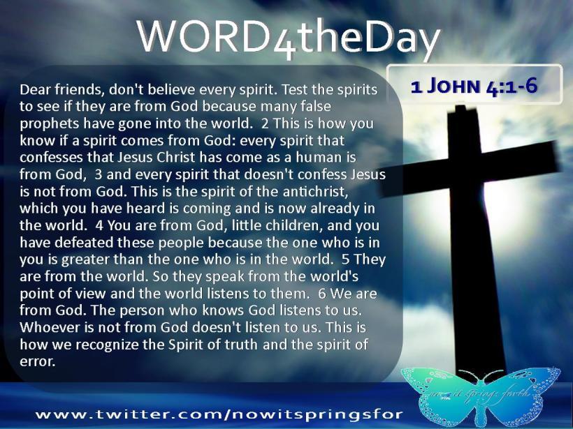 1 John 4 1-6