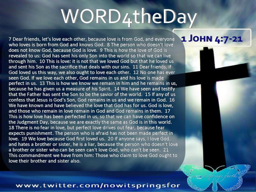 1 John 4 7-21