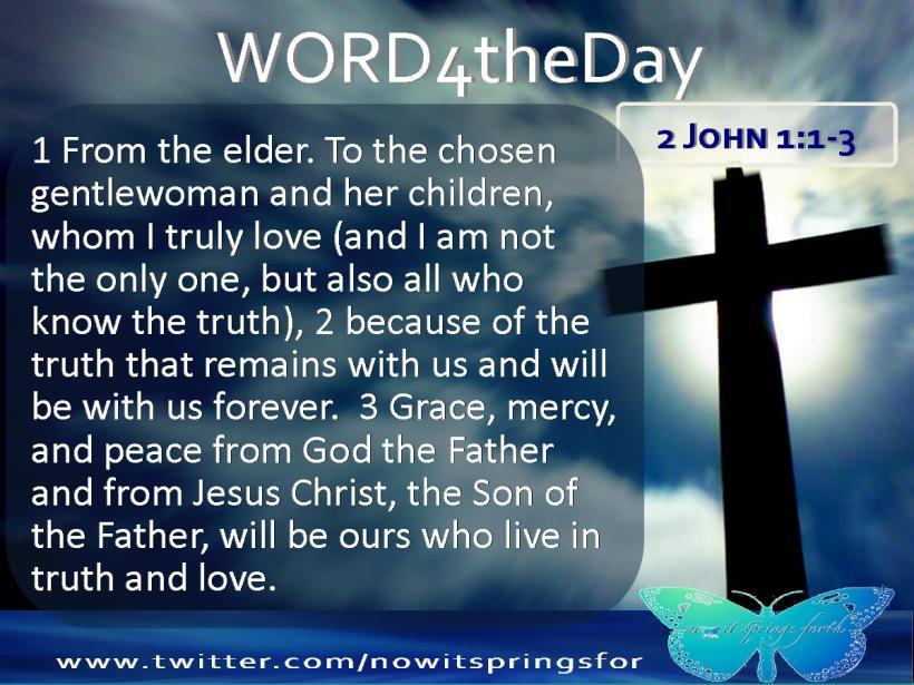 2 John 1 1-3