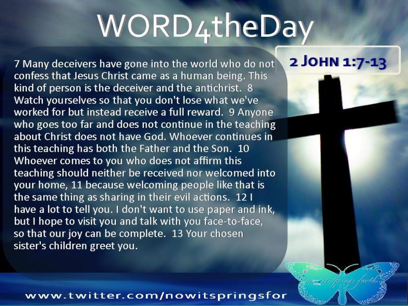 2 John 1 7-13