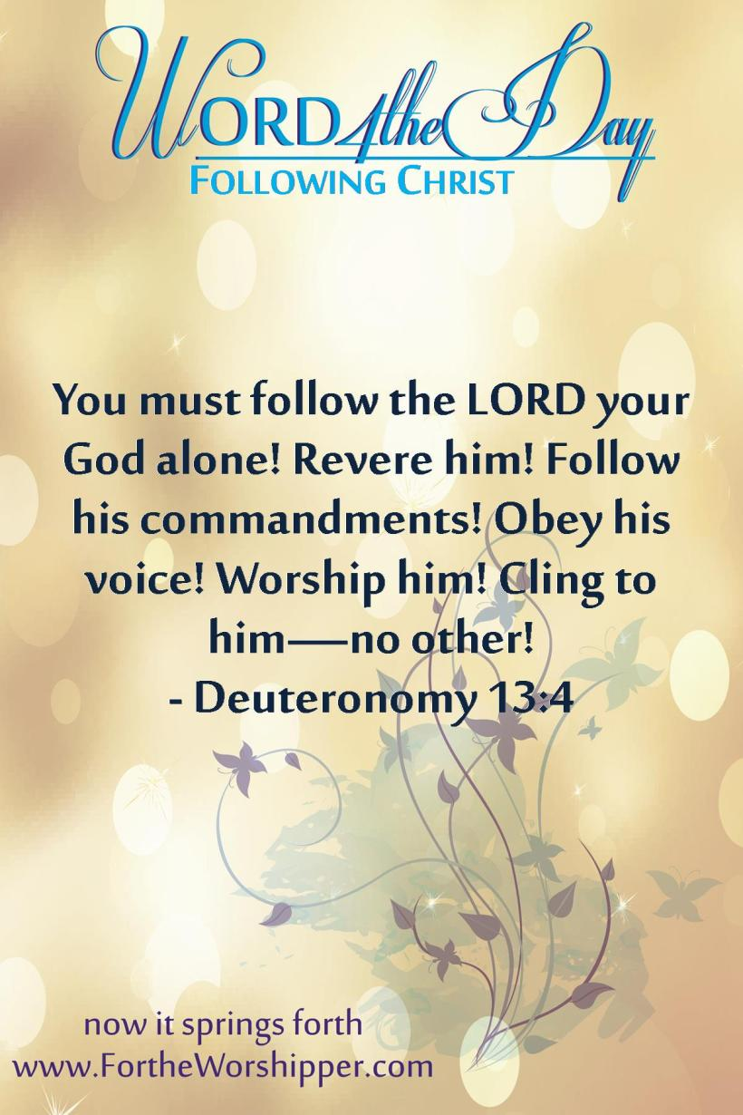Deuteronomy 13 4 Follow the voice of Christ
