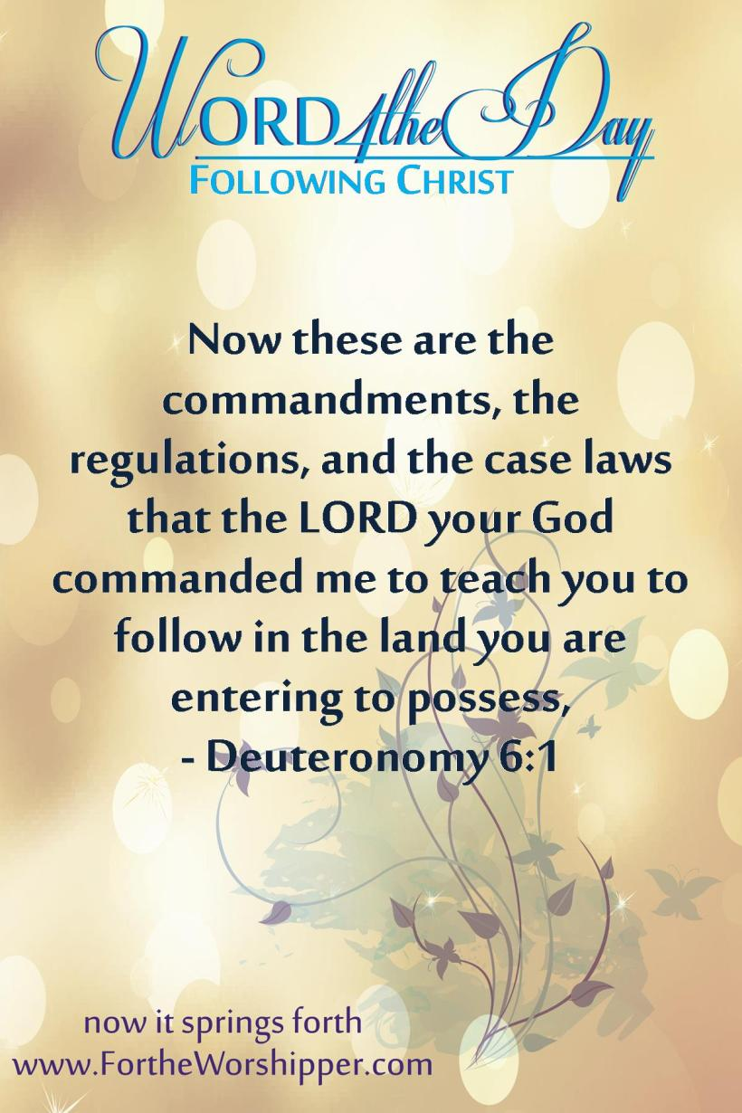Deuteronomy 6 1 Follow the teachings of Christ.